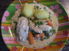 Fisch auf Gemüsebett - Rezept