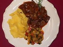 Piemonteser Schmortopf mit Pappardelle - Rezept