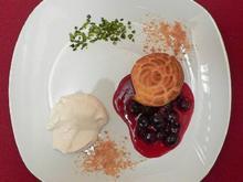 Aachener windige Häufchen mit Printen-Likör-Früchten und Marzipan-Sahneschaum - Rezept