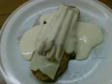 Paniertes Puten-Spargel-Schnitzel - Rezept