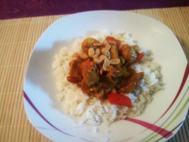 Hähnchen-Curry mit Erdnüssen - Rezept