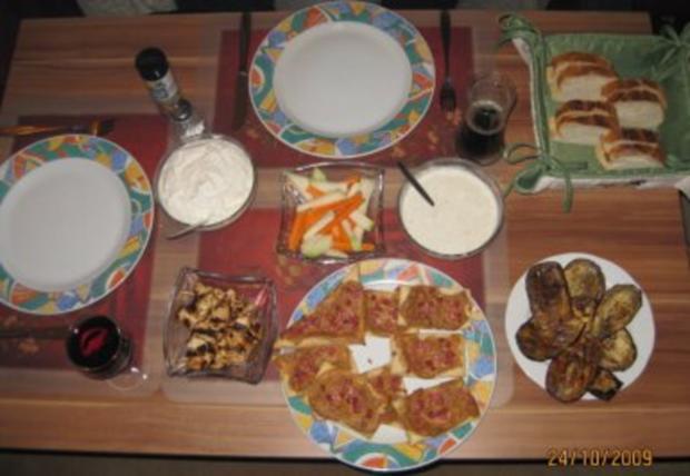 Dipp - Parade, Fingerfood für Partys und Grillfeste !! - Rezept