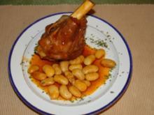 Lammkeule mit Riesen Bohnen - Rezept