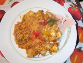Gaby´s Hähnchen-Reis-Pfanne - Rezept