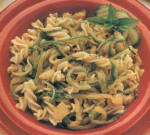 erster gang fusilli paprika zucchini - Rezept