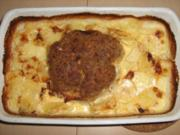 Hackbraten-Kartoffelauflauf - Rezept