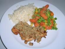 Hühnerbrust mit Senf-Kräuter-Käse-Häubchen - Rezept