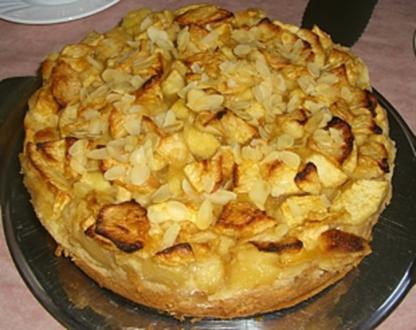 Apfelkuchen mit Vanillepudding - Rezept