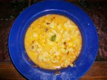 Blumenkohlsuppe mit Curry - Rezept