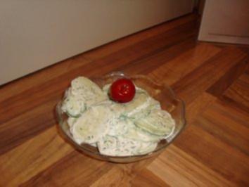 XY/ Feinsch - Diät - Salat - Türkische Gurkensalat - Rezept