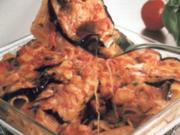 erster gang maccheroni aubergine gratiniert - Rezept