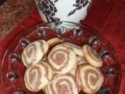 Kekse schwarz-weiß zum Kaffee - Rezept