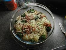 Brokkoli-Blumenkohl-Gratin mit Speckwürfel - Rezept