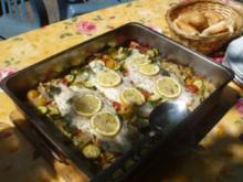 Pangasius - Gemüse - Pfanne vom Grill - Rezept