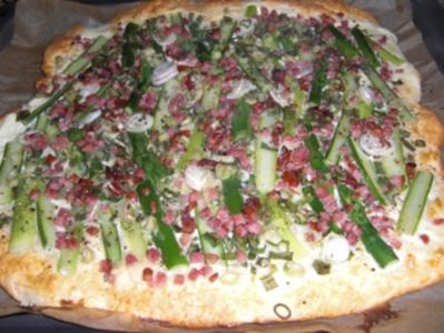 Spargelpizza - Rezept