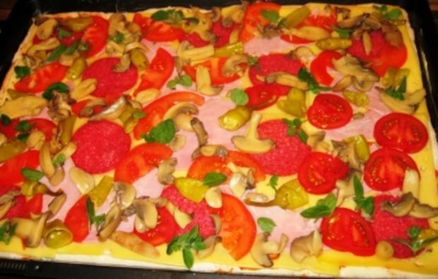 "Pizza: Lisa's Pizza ""Spezial"" - Rezept"