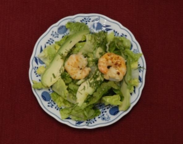Grüner Salat mit frischen Garnelen und Avocados (Anita Kupsch) - Rezept