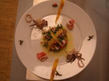 Calamari-Salat auf Polenta - Rezept