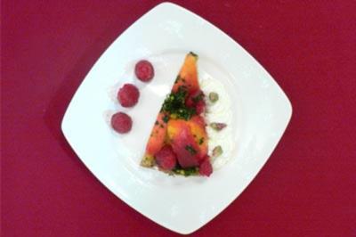 Pfirsich-Himbeer-Biskuit mit süßem Pesto - Rezept - Bild Nr. 9