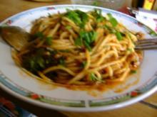 Spaghetti mit Hacksoße - Rezept