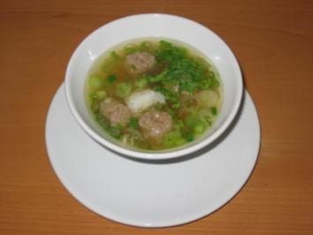 Reissuppe mit Fleischbällchen - Rezept