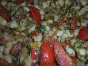 Weiße Bohnen mit Kräutern und Tomaten - Rezept