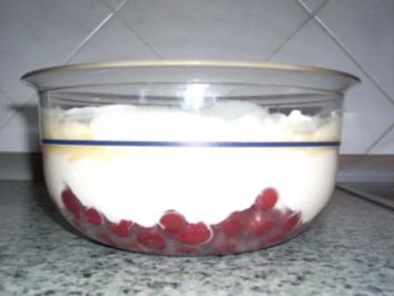 Eierlikör - Dessert mit Kirschen - Rezept
