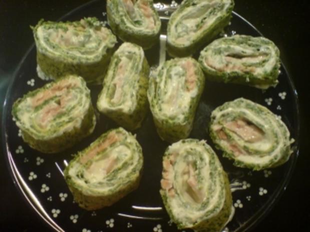 Spinat-Frischkäse-Rolle - Rezept - Bild Nr. 2