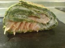 Spinat-Frischkäse-Rolle - Rezept