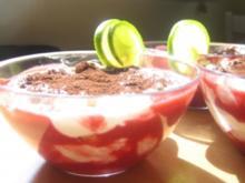 Himbeer  - Lime Tiramisu aus'm Glas - Rezept