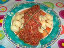 Gnocchi mit Schinken-Hackfleisch-Sauce - Rezept