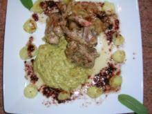 Lammkoteletts mit Knoblauch- und Bohnenmus - Rezept