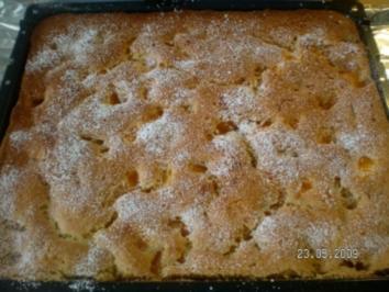Rezept: Blechkuchen mit Sauerkirschen,oder Mandarinen