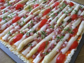 Spargel-Pizza aus meiner Versuchsküche... - Rezept