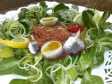 Feldsalat mit Zupffleisch - Rezept