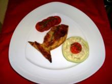 Lachsfilet auf einem Blätterteigfisch mit Parmesankruste - Rezept