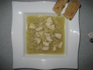 Hühnersuppe mit Reis & Curry - Rezept