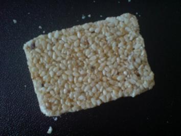 Kekse / Plätzchen - Sesam-Krokant - Rezept