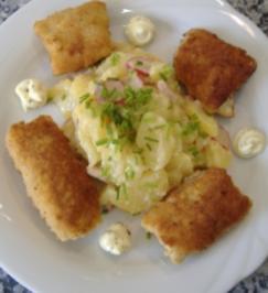Lauwarmer Kartoffel-Meerrettich-Specksalat - Rezept