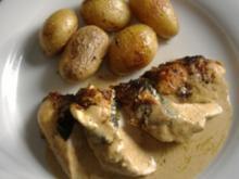 Poulardenbrust mit Spinat und Feta gefüllt - Rezept