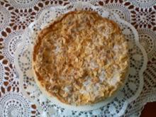 Apfelkuchen mit Sahneguß - Rezept