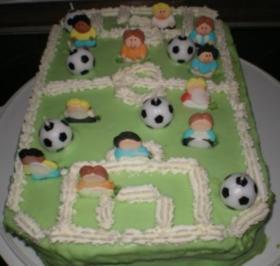 Fußballfeld-Torte - Rezept