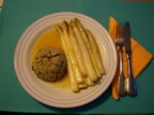 Spargel in Orangensoße mit Kräutercouscous - Rezept