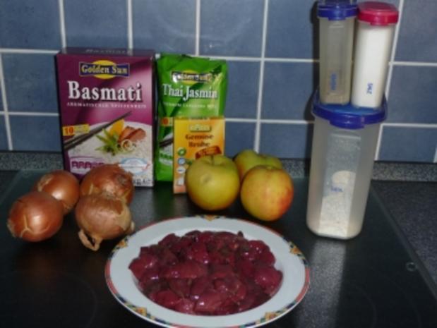 Putenleber mit Apfel auf Reis - Rezept - Bild Nr. 2