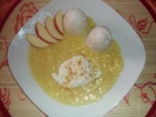 Pochierte Eier mit Apfel-Curry-Soße - Rezept