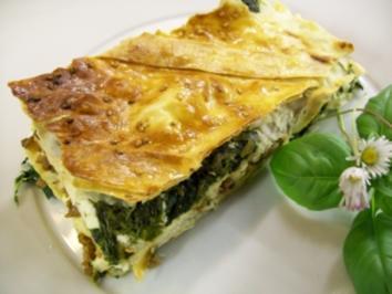 Yufka-Pastete mit Spinat und Hackfleisch - Rezept