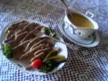 Rindfleisch mit Zwiebelsoße - Rezept