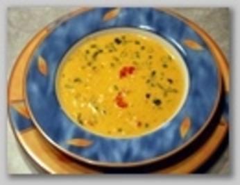 Suppentopf mit Flußkrebsfleisch und Mais - Rezept