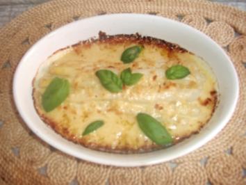 Rezept: Spargel mit Gruyère überbacken