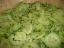 Gurkensalat mit Schnittlauch - Rezept